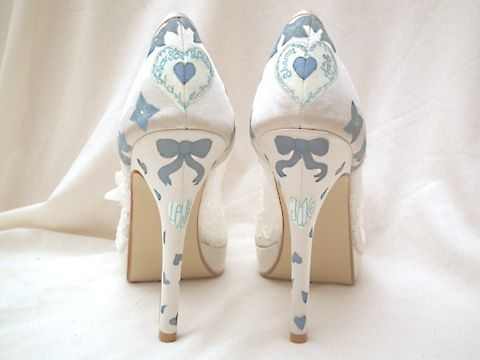 Shoe Lust Hand Painted Wedding Shoes By Beautiful Moment