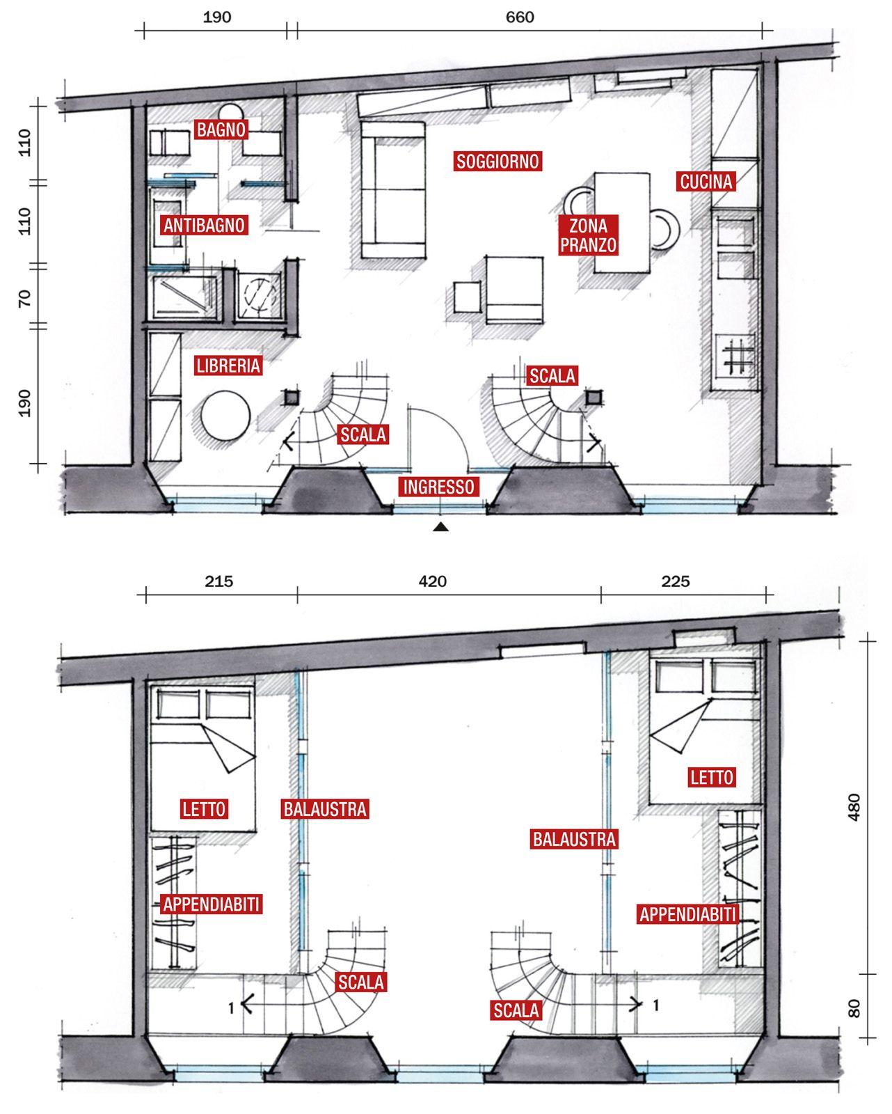 Casa 80 Mq Pianta mini loft: la casa recupera spazio con nuovi soppalchi (con