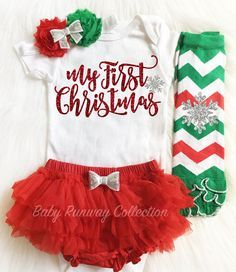 My First Christmas Bodysuit-Baby Christmas Bodysuit - Newborn Christmas Outfit - Take Home Outfit & My First Christmas Bodysuit-Baby Christmas Bodysuit - Newborn ...