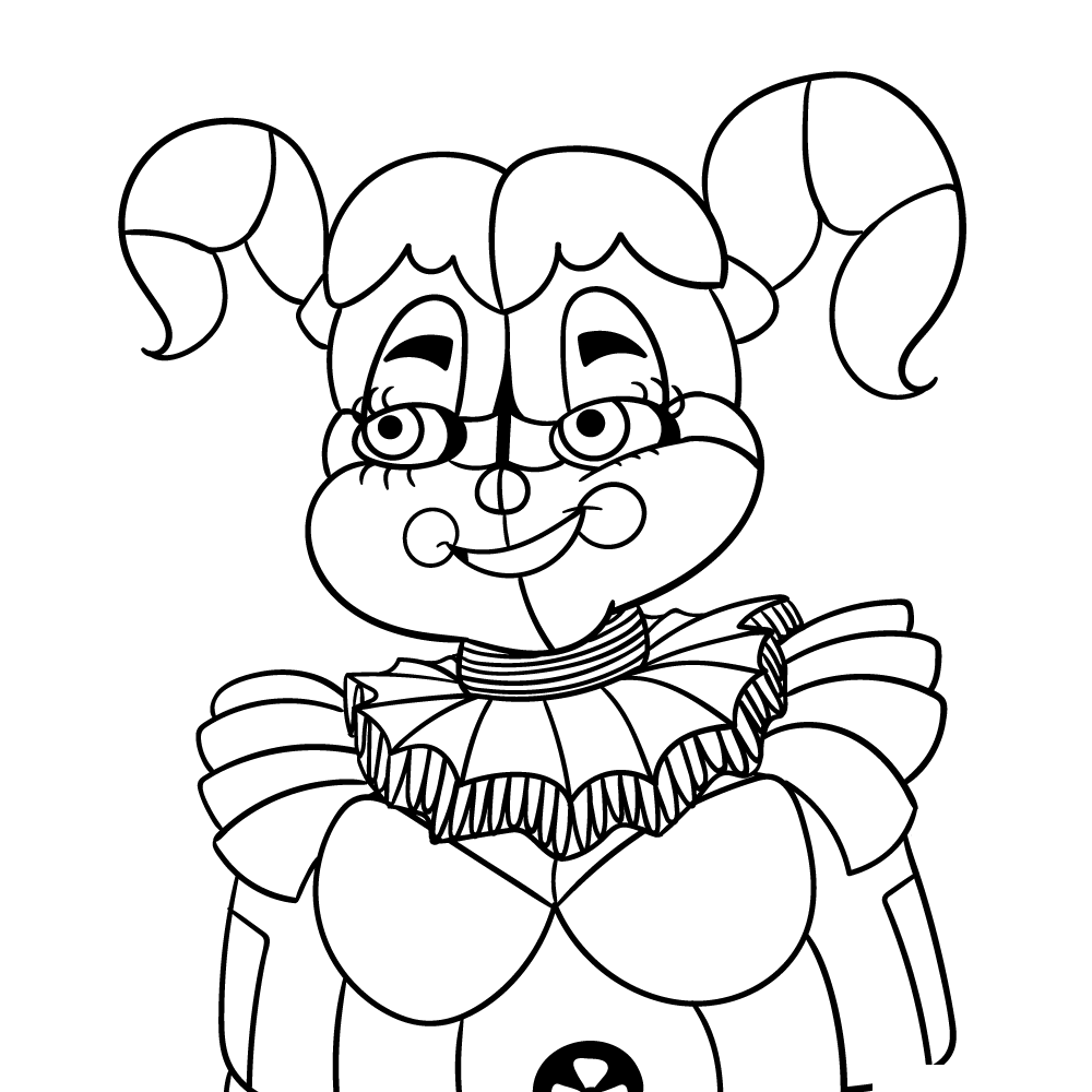 Circus Baby Five Nights At Freddys Coloring Pages Fnaf Coloring Pages Free Coloring Pages Skull Coloring Pages