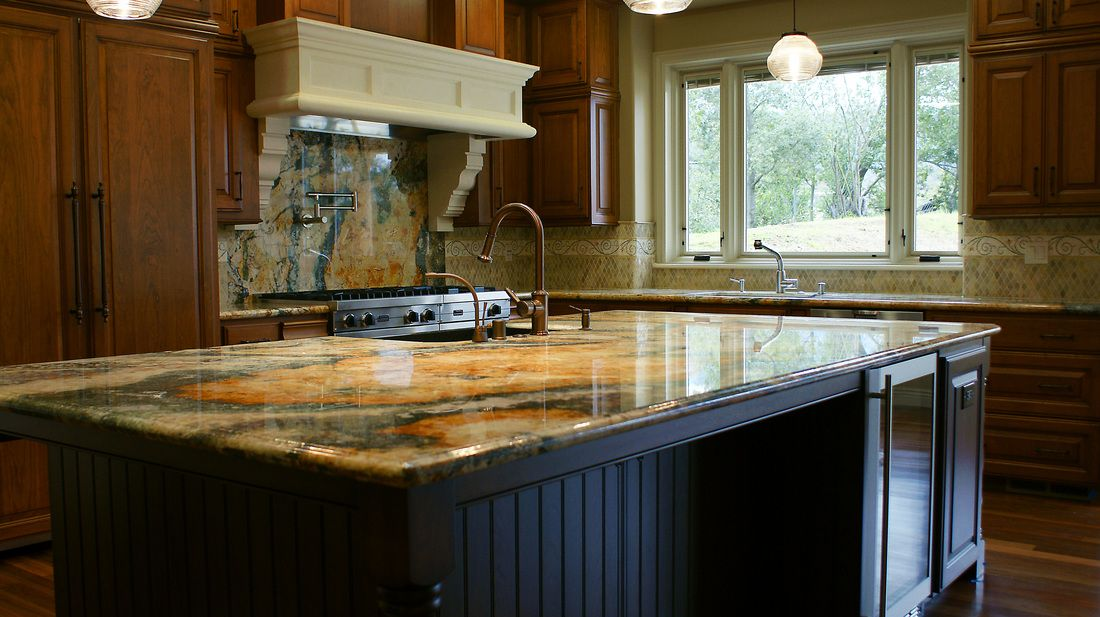 Tile Plus installed the granite countertop island and