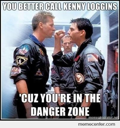 Highway to the danger zone I'll take you Ridin' into the ... Tom Cruise Risky Business Dance