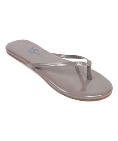 012577657a30b Love this Taupe Roee Patent Leather Flip-Flop - Women by Yosi Samra on   zulily!  zulilyfinds