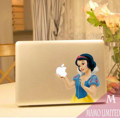 Snow White Macbook Decals Macbook Stickers Mac Cover