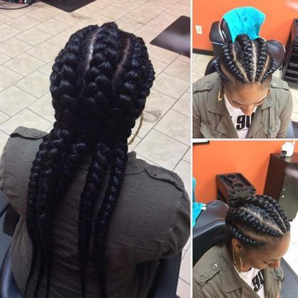 Nigerian Ghana Weaving Styles For Round Faces Braids For