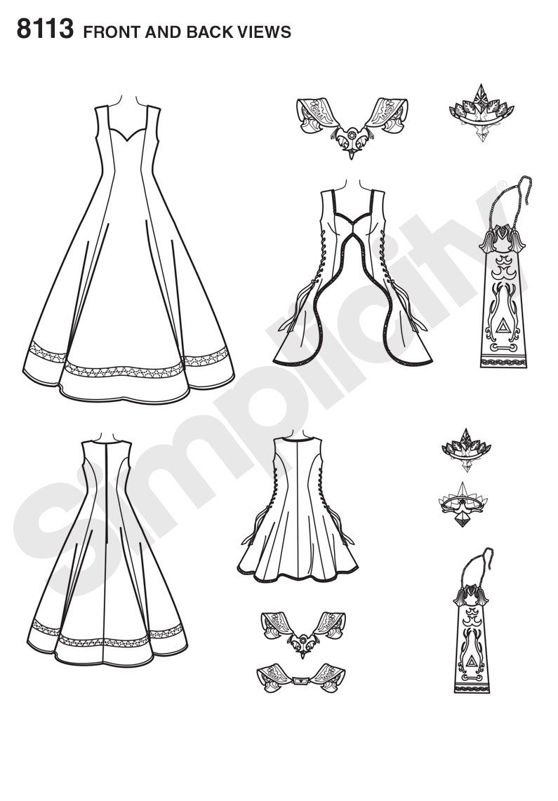 Simplicity 8113 - Misses\' Costume with Craft Foam Armor, Belt and ...