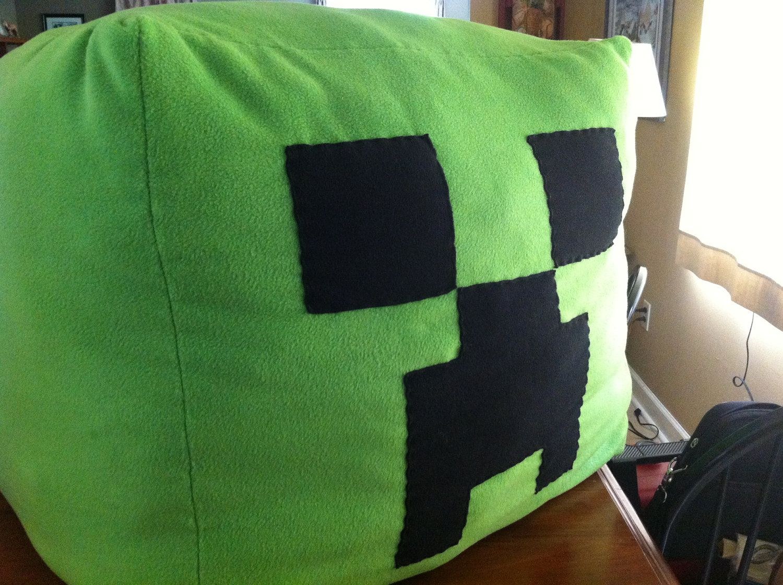 Minecraft Pixel Anywhere Beanbag In 2020 Minecraft Bedding Bean Bag Chair Kids Kids Bean Bags