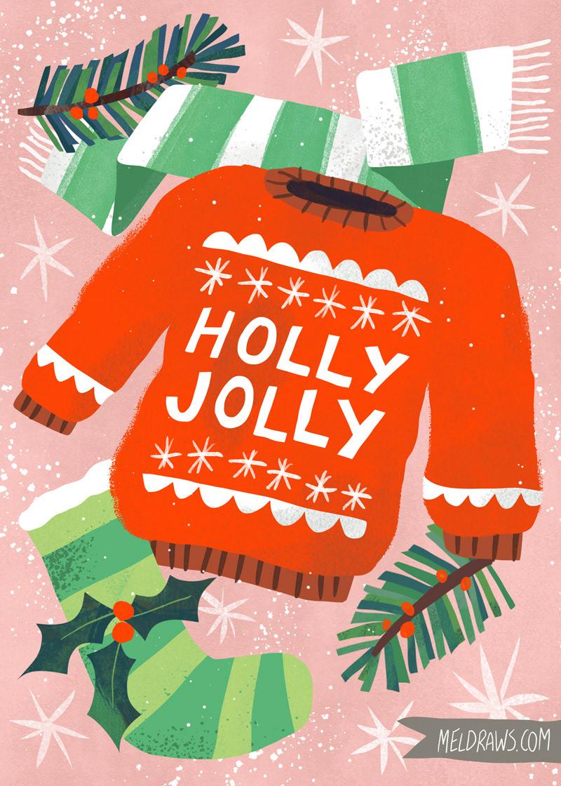 Joy Christmas Cards On Behance Christmas Graphics Joy Christmas Card Christmas Illustration