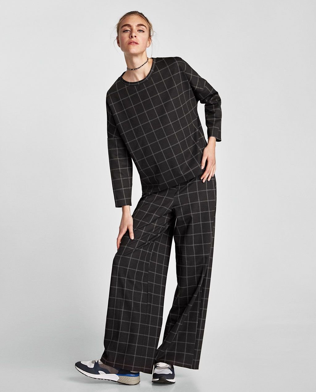 a49637d8 Image 1 of CHECK TROUSERS from Zara | Co-Ord | Checked trousers ...