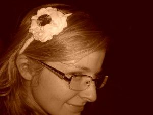 DIY T-shirt flower headband