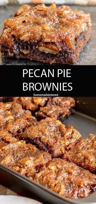 PECAN PIE BROWNIES RECIPE | Best Taste of Food! #pecanpierecipe