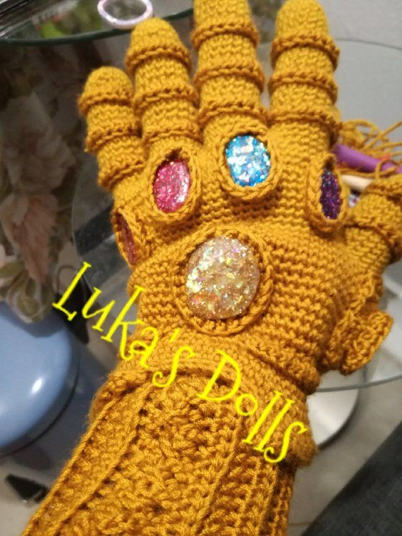 Guante de Thanos infinity wars | guardados crochet | Pinterest ...