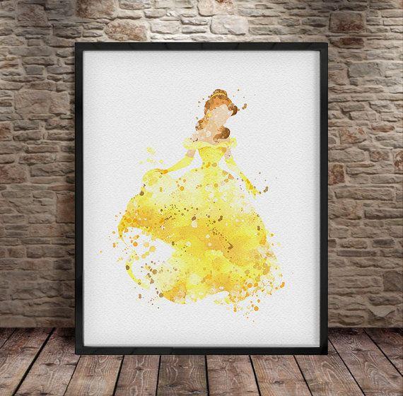 Disney Princess Disney Art Wall Art Belle Beauty by iLoveArtPrint ...