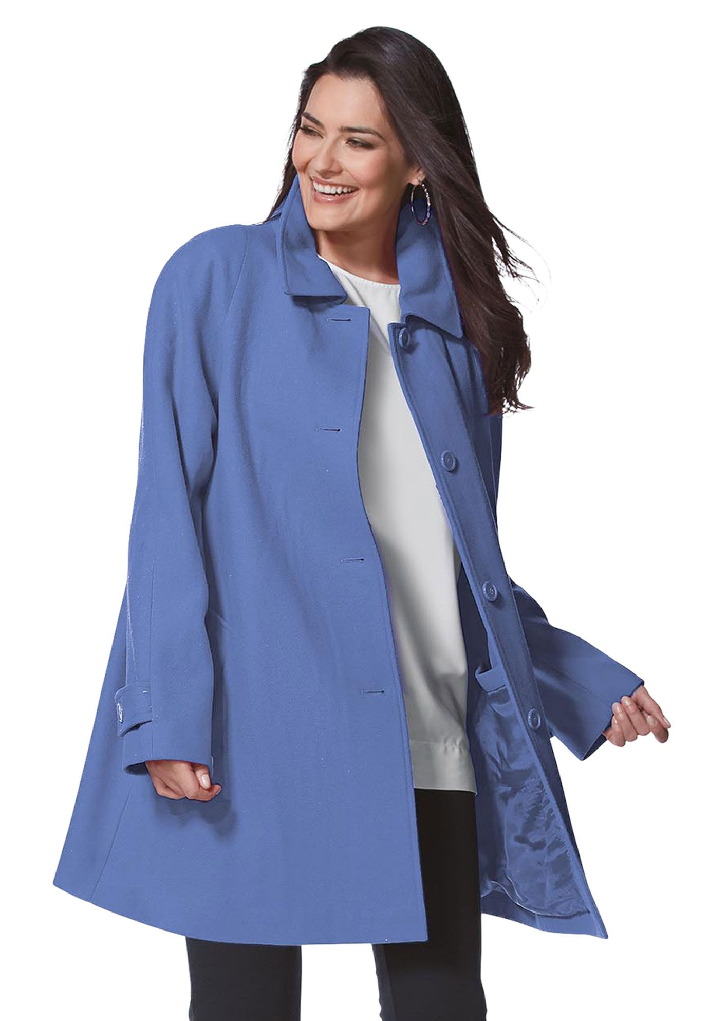 Coat A Line In Wool Blend Plus Size Plus Size Coats Clothes [ 1986 x 1380 Pixel ]