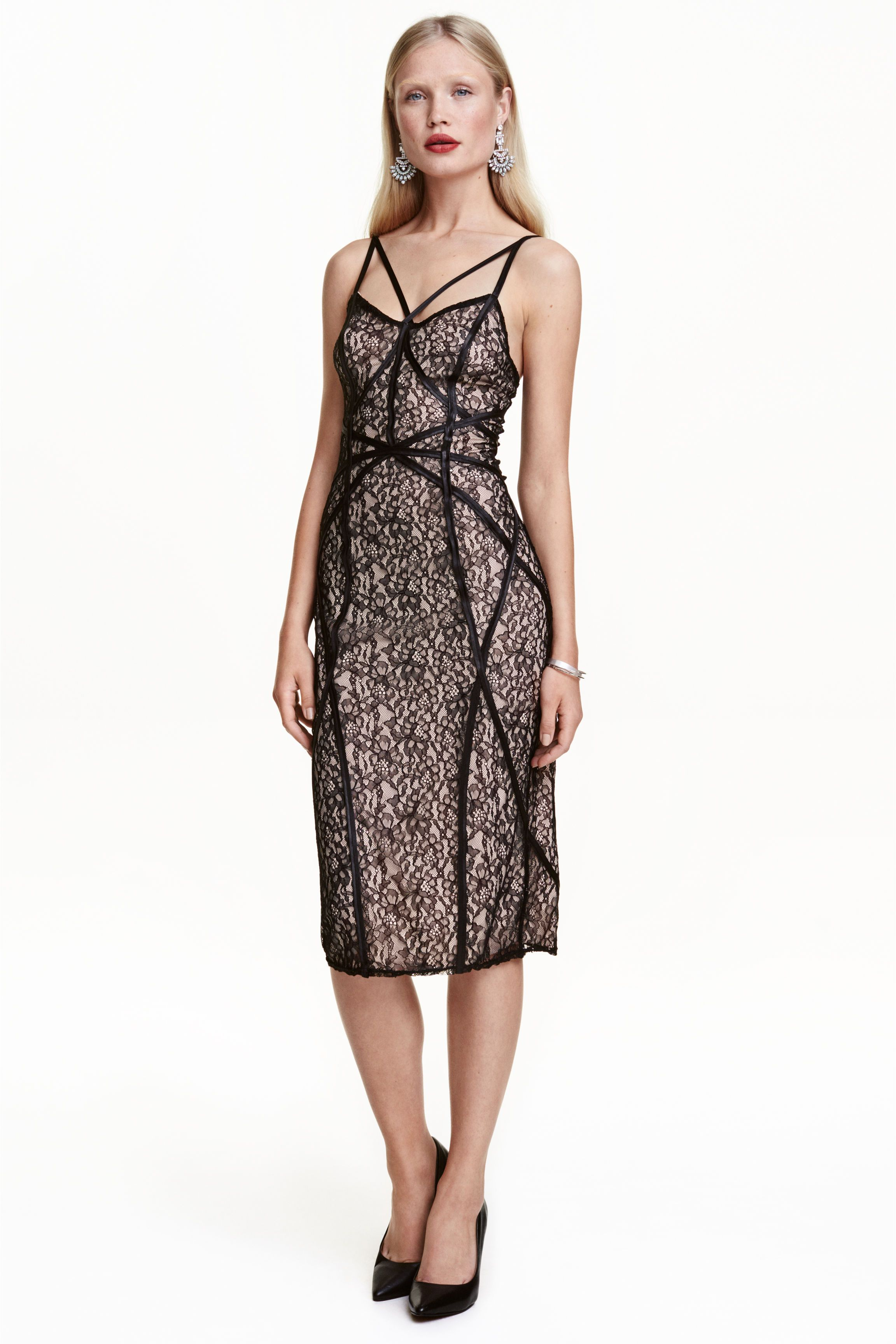 Robe En Dentelle Dame W 17 18 Lace Dress Black Fashion