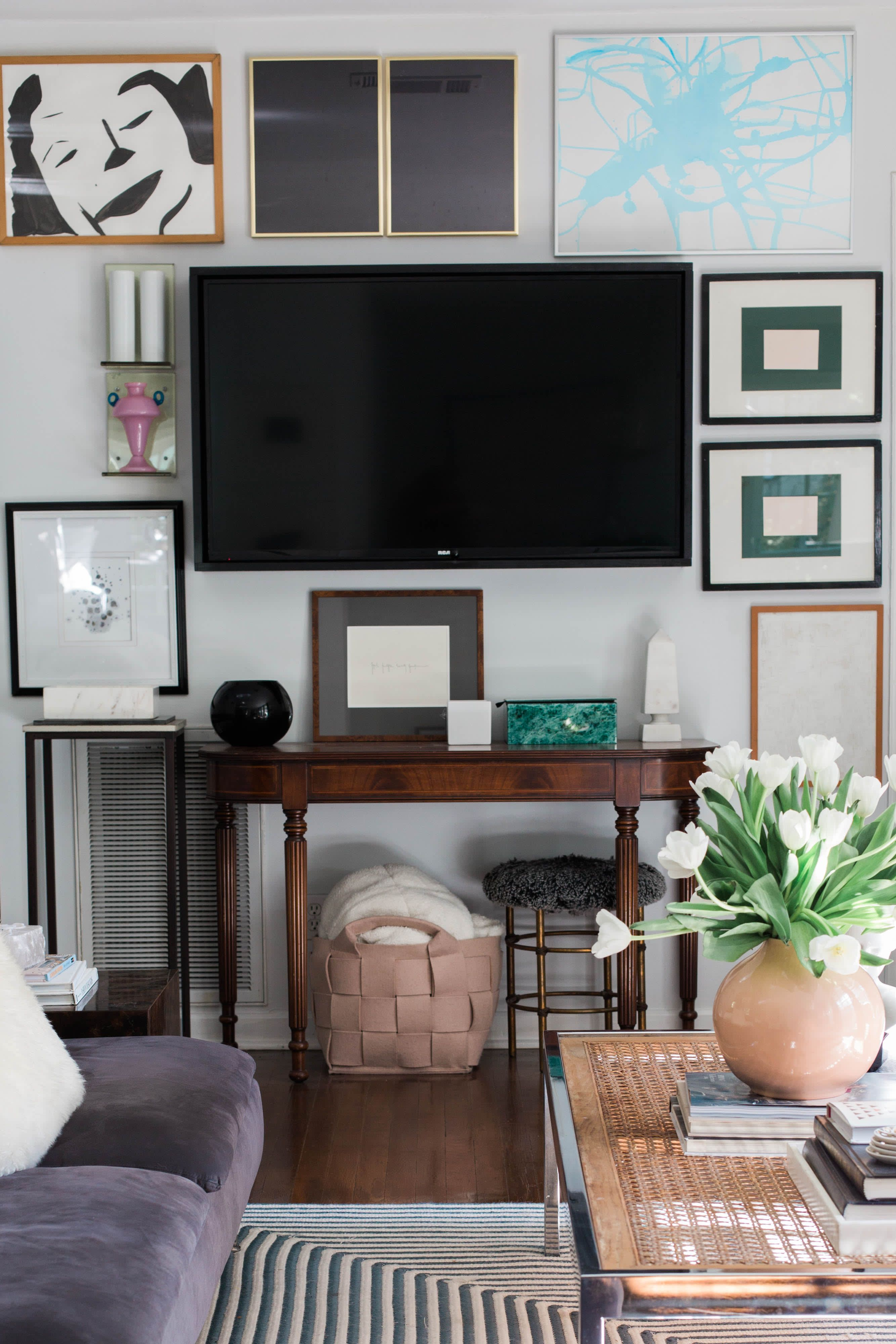 How To Make Your Tv Feel Like A Real Part Of Your Design Scheme Small Living Room Ideas With Tv Rustic Living Room Design Living Room Tv