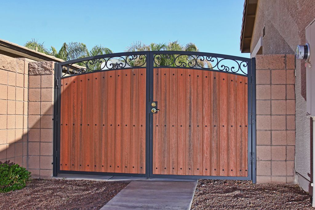 Rv Gate Composite Wood Firstimpression With Images Door