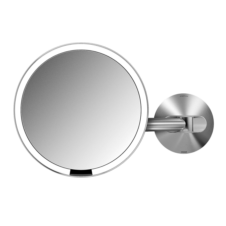 Amazon Com Simplehuman 8 Inch Wall Mount Sensor Mirror Lighted Makeup Mirror Recharg Makeup Mirror With Lights Wall Mounted Makeup Mirror Wall Mounted Light