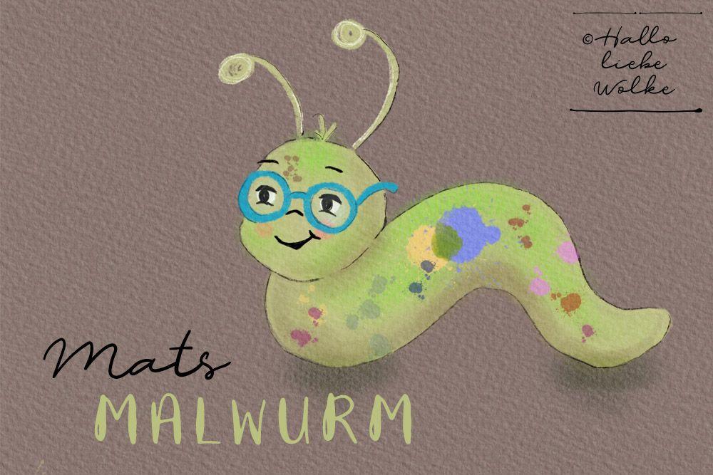 Farben mischen mit Mats Malwurm (Lerngeschichte & Printable ...