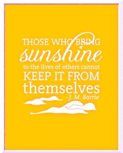 Always bring a hefty dose of sunshine with you wherever you go. #quotes #yellow
