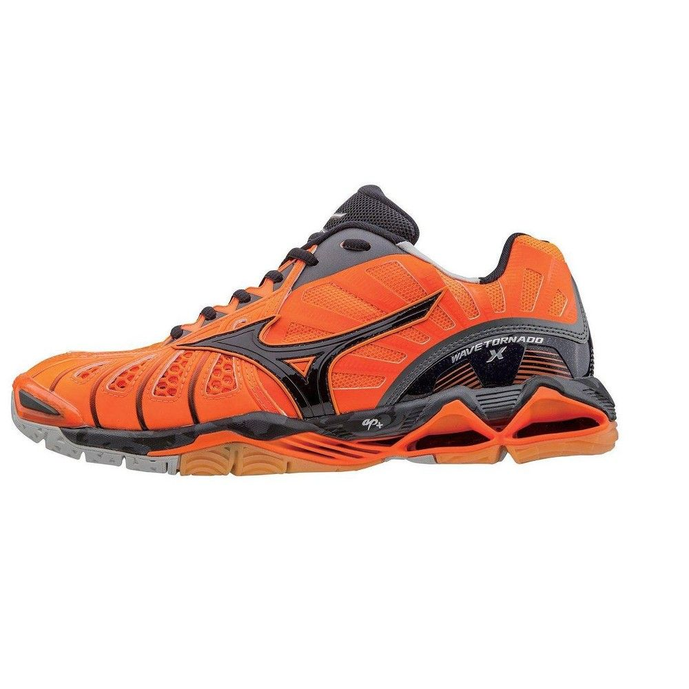 Mizuno Mens Volleyball Shoes Men S Wave Tornado X 430201 Size 17 Orange Black 2090 Mens Volleyball Shoes Volleyball Shoes