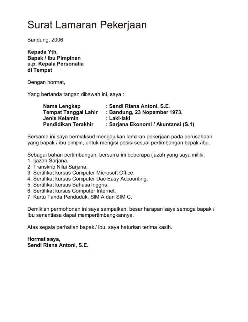 50 Contoh Surat Lamaran Kerja Notaris Cv Kreatif Surat Pengunduran Diri Surat