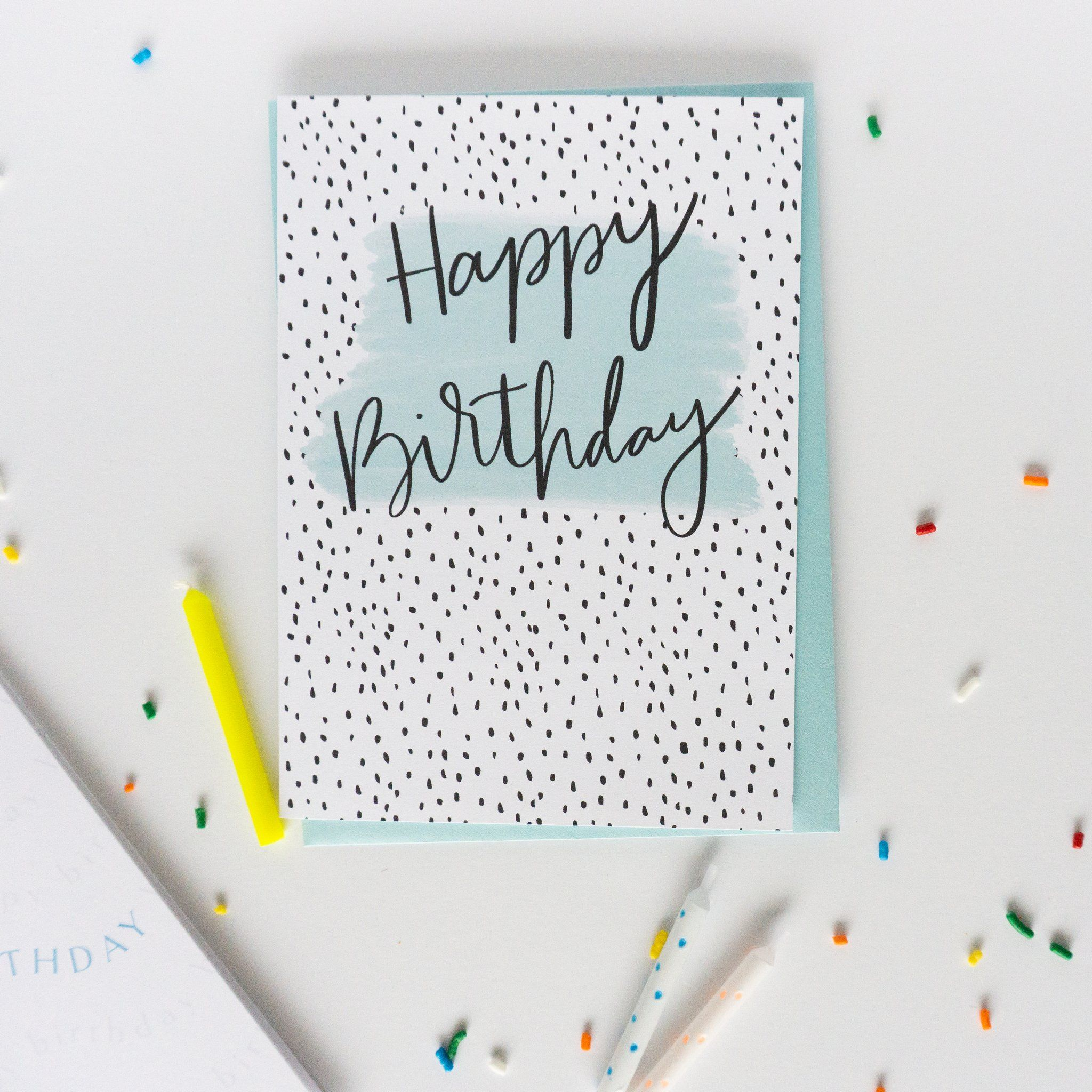 Happy Birthday Dots Greeting Card Special Birthday Cards Cool Cards Greeting Card Companies