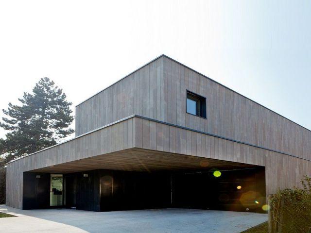 Une maison passive en bois massif peu conventionnelle plans id es pour maison pinterest - Maison passive en bois ...
