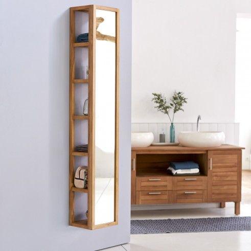 Colonne Miroir Droite En Teck 30 Twig Mirror Cabinets Shelves Teak