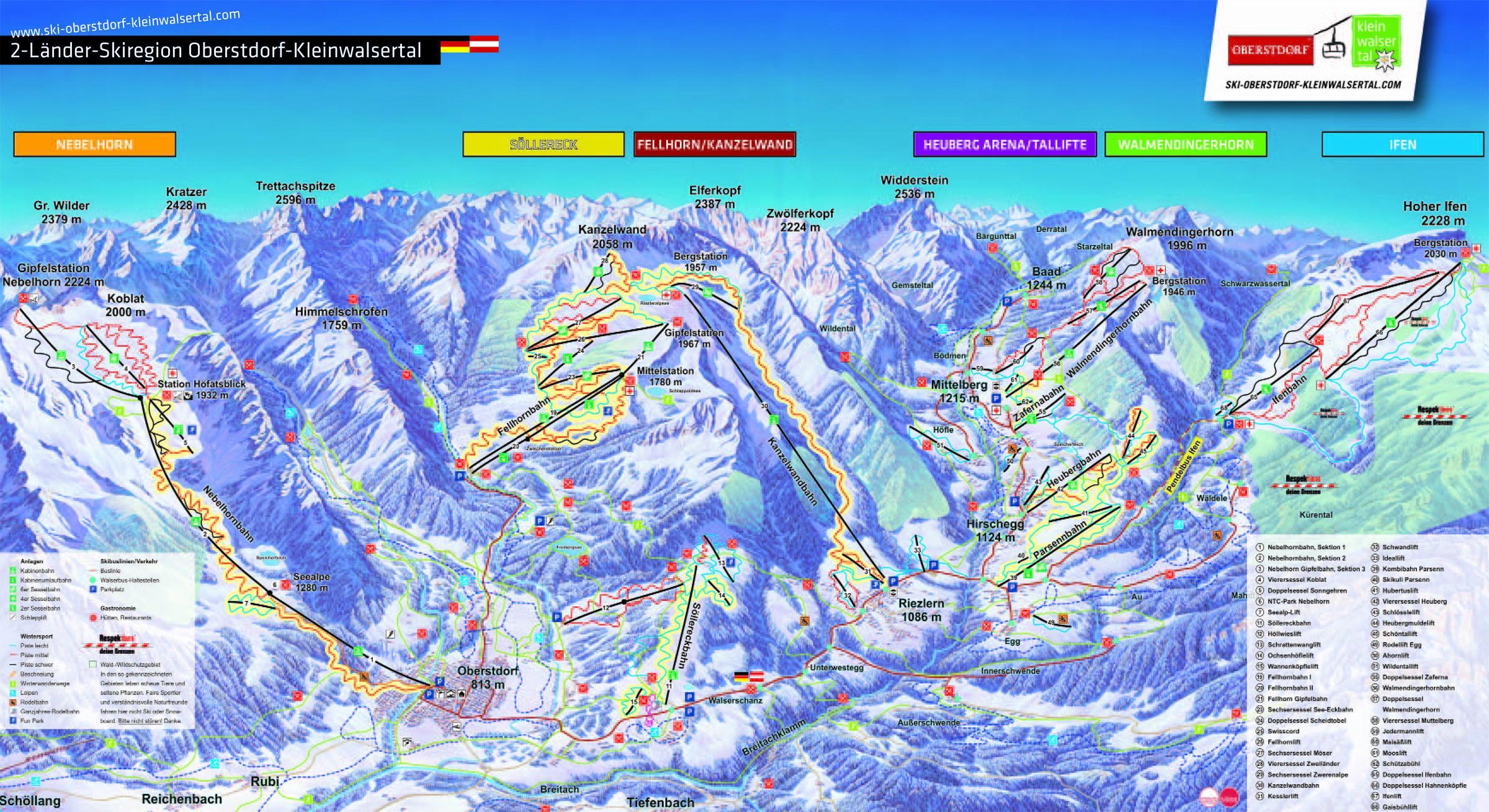 2 Lander Ski Region Oberstdorf Kleinwalsertal Kleinwalsertal