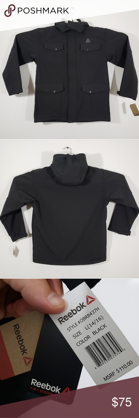 Reebok Boys Active 4 Pocket 3 In 1 Systems Hooded Reebok Hooded Jacket Hoods [ 1740 x 580 Pixel ]