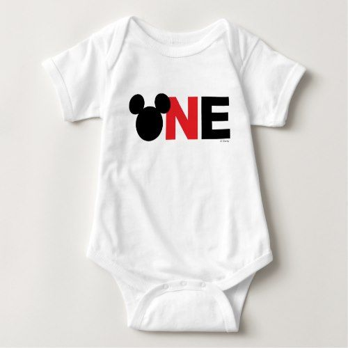 Mickey Mouse | Icon First Birthday Baby Bodysuit | Zazzle.com #mickeymousebirthdaypartyideas1st