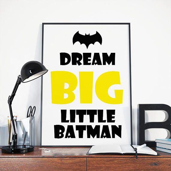 Dream big, little batman, batman nursery, superhero nursery, batman ...