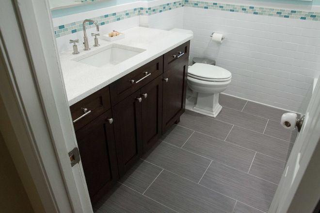 Our Por Porcelain Soho Mulberry On This Bathroom Floor