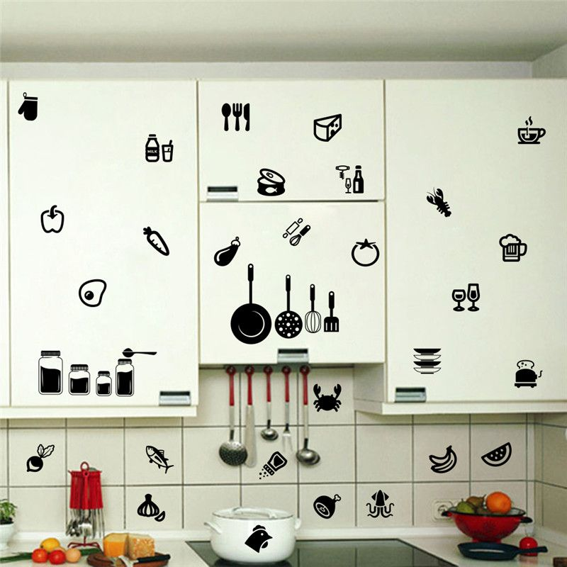 Kitchen Wall Sticker Tools Room Removable Decal Stickers 710 Vinyl Quote Art Home Decor