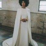 Solange Knowles sposa favolosa in Kenzo