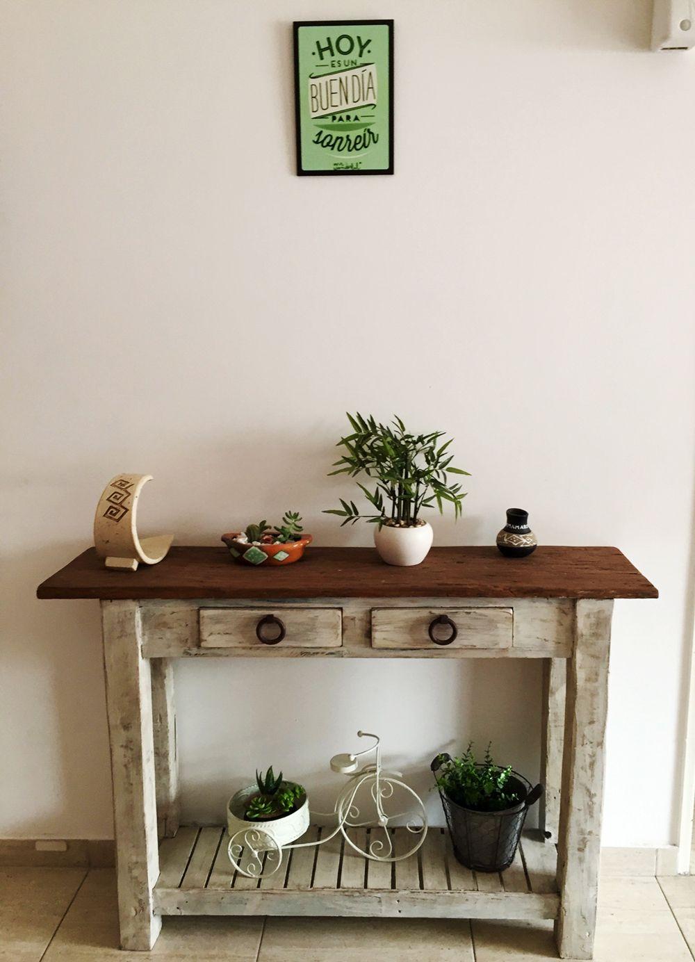 Mueble de apoyo para Cecilia – Antigua Madera | Deco hogar ...