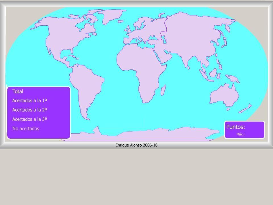 Worksheet. Mapa interactivo del mundo Continentes y ocanos Dnde est