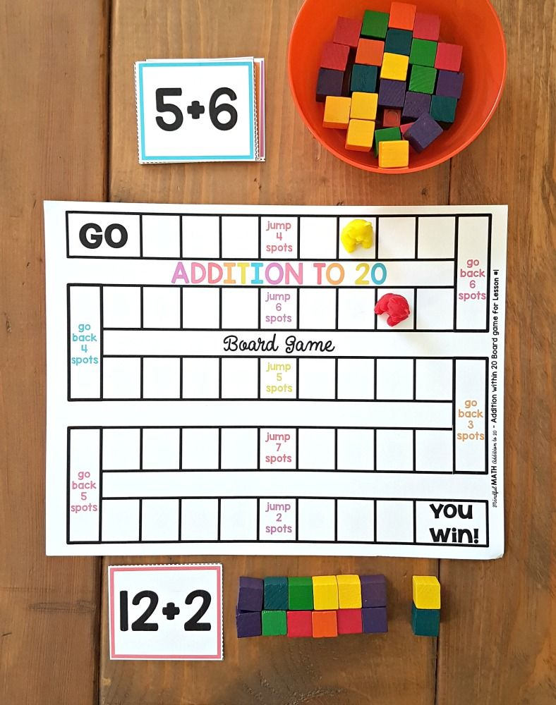 Addition And Subtraction Activities For Kids Fundamental Methods Proud To Be Primary Subtraction Activities Math Fact Fluency Math Board Games Adding and subtracting games for