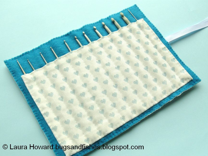 Bugs And Fishes By Lupin How To Sew A Crochet Hook Roll Crochet