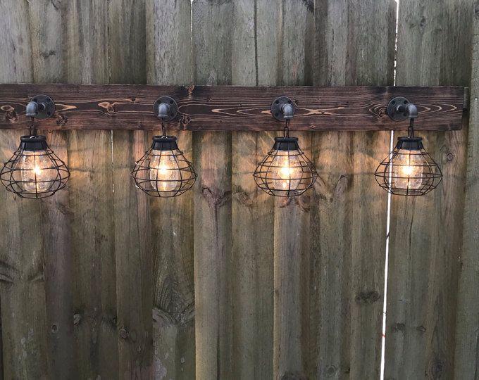 Meuble Luminaire, Luminaire Pot Mason Avec Abat Jour, Applique Murale,  Pendentif Lumière, Salle De Bain, Rustique, Industriel, à La Main, Moderne