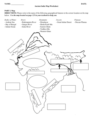 NAME: DATE: Ancient India Map Worksheet PART I. Map ... on giving directions, traffic directions, travel directions, scale directions, driving directions, get directions, compass directions, mapquest directions,