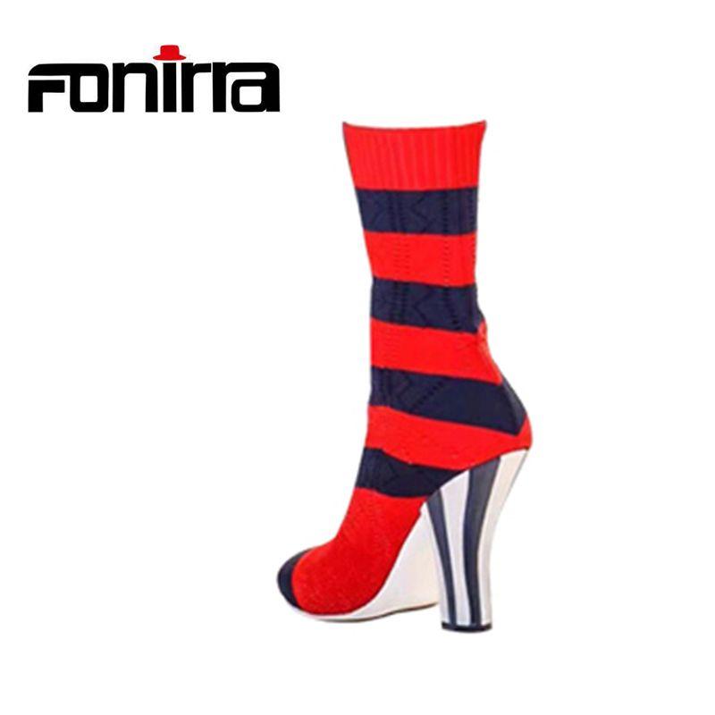 2020 New Slim Stretch Fabric Knee High Boots Women Sexy