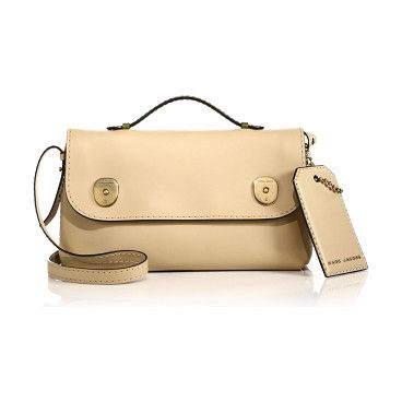 MARC JACOBS Topstitched top-handle satchel found on Nudevotion