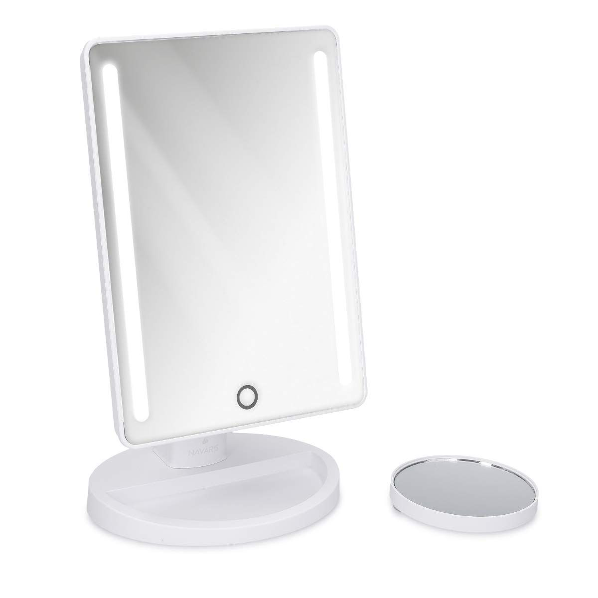 Deusenfeld Wl7efa Akku Batterie Led Doppel Wand Kosmetikspiegel 7x Vergrosserung Normalspiegel O20cm 360 Vertikal Und Horizo In 2020 Kosmetikspiegel Led Spiegel