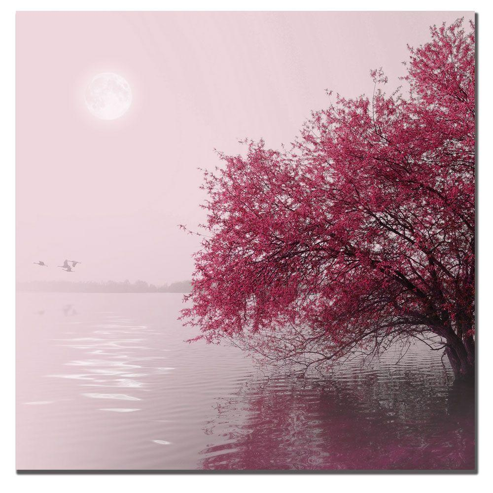 35 in. x 35 in. Full Moon on the Lake Canvas Art