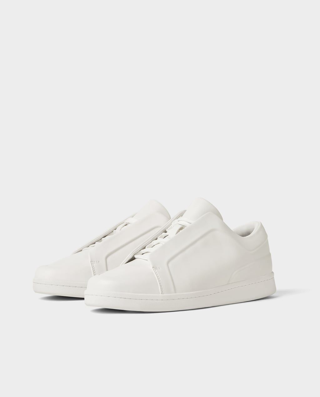 c467248e0e Image 1 of WHITE SNEAKERS from Zara | Shoes in 2019 | White sneakers ...