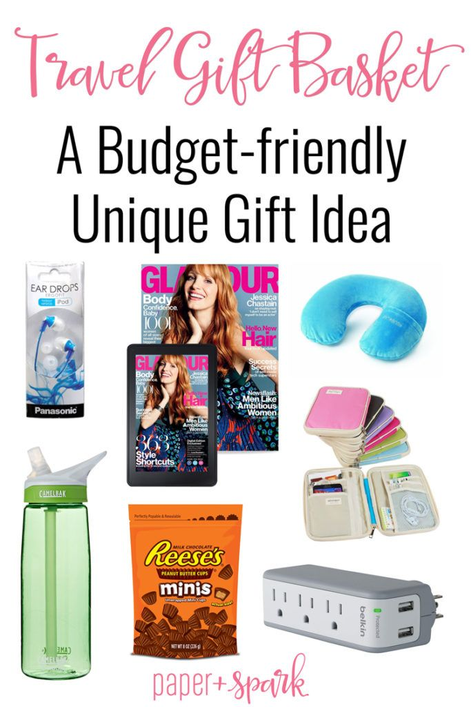 Travel gift basket budget friendly gift ideas for the traveler travel gift basket a budget friendly unique gift idea for the traveler on your list negle Image collections