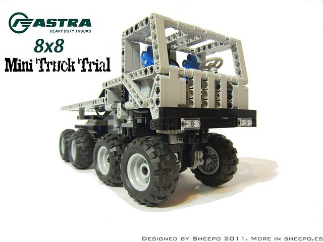 Lego Technic Astra 8x8 Mini Truck Trial Now With Instructions