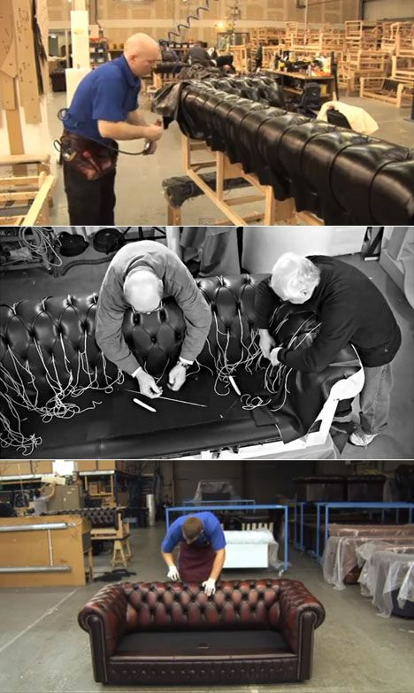 How Chesterfield Sofas Are Made Core77